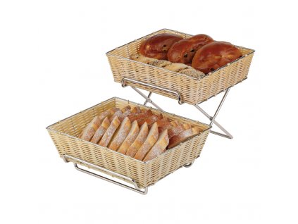 Buffet Stand For Basket  Chrome Plated