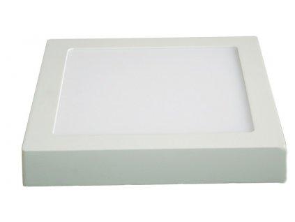 Solight LED panel prisazený, 12W, 900lm, 3000K, čtvercové, bílé