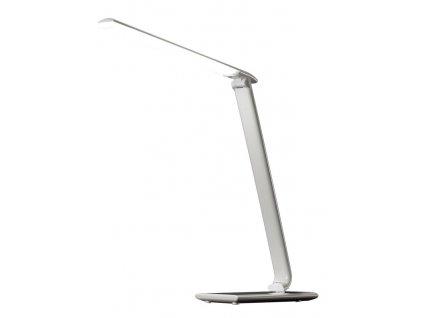 Solight LED stolní lampička stmívatelná, 9W, volba teploty světla, USB, bílý lesk