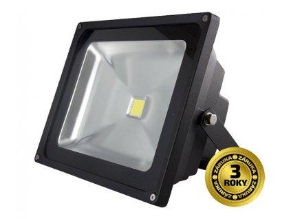Solight LED venkovní reflektor, 30W, 2100lm, AC 230V, černá
