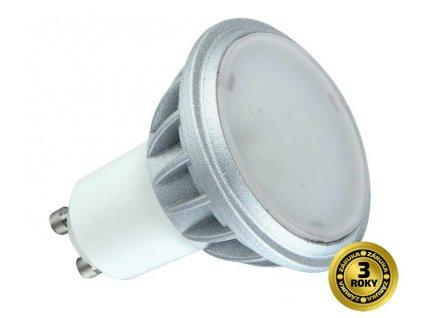 Solight LED žárovka, bodová , 7W, GU10, 4000K, 500lm, stříbrná