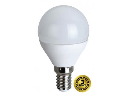 Solight LED žárovka, miniglobe, 6W, E14, 4000K, 420lm, bílé provedení
