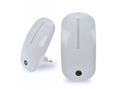 Solight noční LED světélko se světelným senzorem, 1W, plug-in, bílé