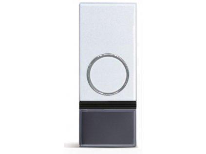 Solight bezdrátové tlačítko pro zvonky 1L28 a 1L29, 200m, bílé, learning code, kryt na jmenovku