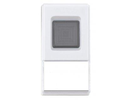 Solight bezdrátové tlačítko pro 1L42, 150m, bílé, learning code, kryt na jmenovku