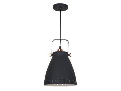 Solight lustr Torino, single, 26,5cm, E27, černá