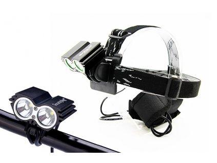 Solight nabíjecí LED cyklo a čelová svítilna, 1100lm, 2x Cree XML-T6 LED, Li-Ion