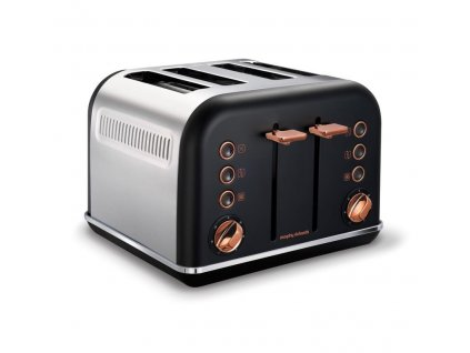 Morphy Richards topinkovač Accents Rosegold Black 4S