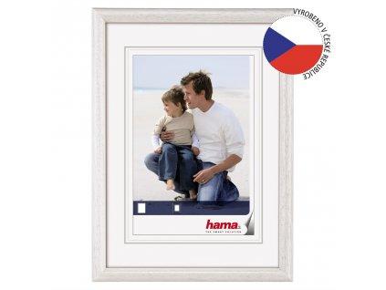Hama rámeček dřevěný OREGON, bílý, 15x20cm