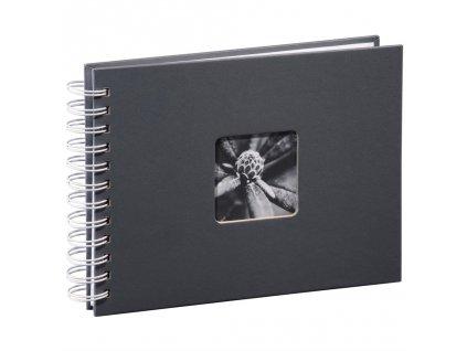 Hama album klasické spirálové FINE ART 24x17 cm, 50 stran, šedé, bílé listy