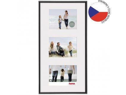 Hama rámeček plastový Galerie Madrid, černá, 25x55cm/3