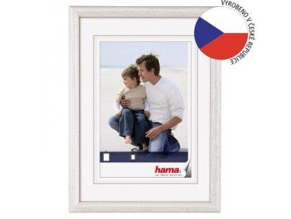Hama rámeček dřevěný OREGON, bílá, 29,7x42 cm