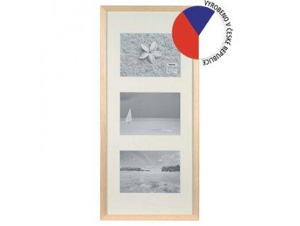 Hama 1136 rámeček dřevěný Galerie STOCKHOLM, přírodní, 25x55 cm