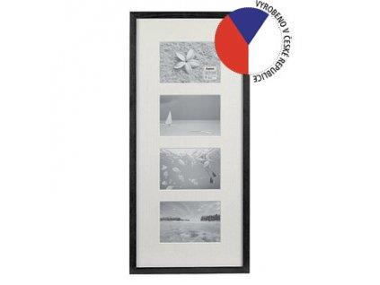 Hama 1143 rámeček dřevěný Galerie STOCKHOLM, černá, 26x60 cm