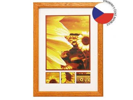 Hama rámeček dřevěný TRAVELLER II, oranžová, 29,7x42 cm