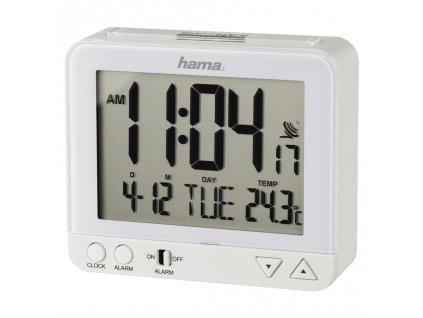 Hama RC 550 Radio Controlled Alarm Clock, with night light function, white