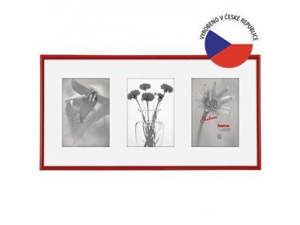 Hama 1146 rámeček plastový Galerie MADRID, červená, 23x45cm/3