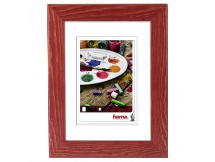 Hama rámeček dřevěný RIGA, červený, 24x30cm