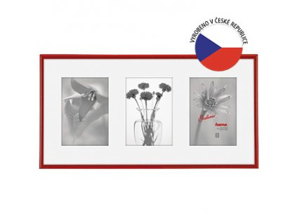 Hama 1147 rámeček plastový Galerie MADRID, červená, 25x55 cm/3