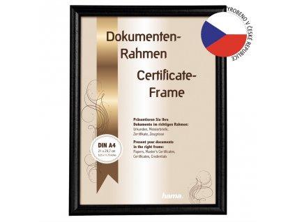 Hama rámeček dřevěný OREGON, černá, 21x29,7cm