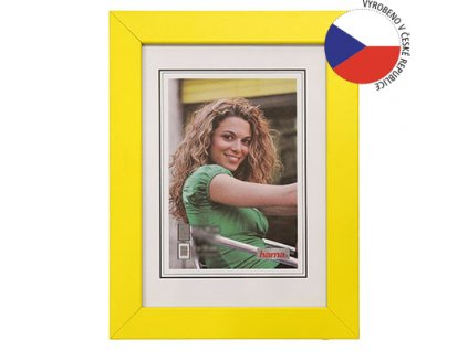 Hama rámeček dřevěný JESOLO, žlutá, 15x20cm