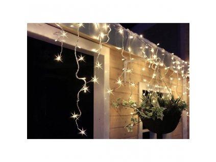 Solight LED vánoční závěs, rampouchy, 120 LED, 3m x 0,7m, přívod 6m, venkovní, teplé bílé světlo