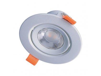 Solight LED podhledové světlo bodové, 9W, 720lm, 4000K, kulaté, 38°, stříbrné
