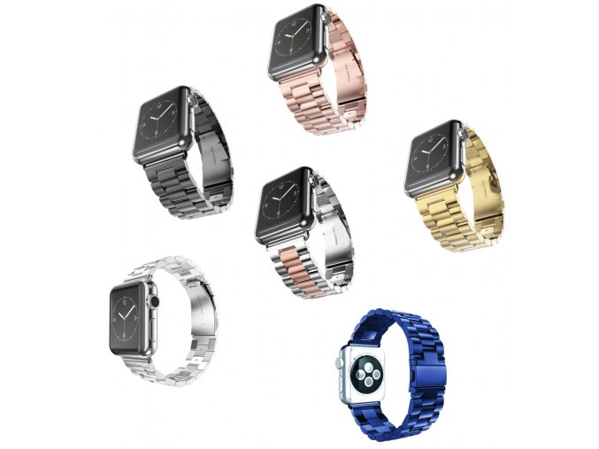 Apple watch iWatch 3 kovový řemínek náramek 38 MM