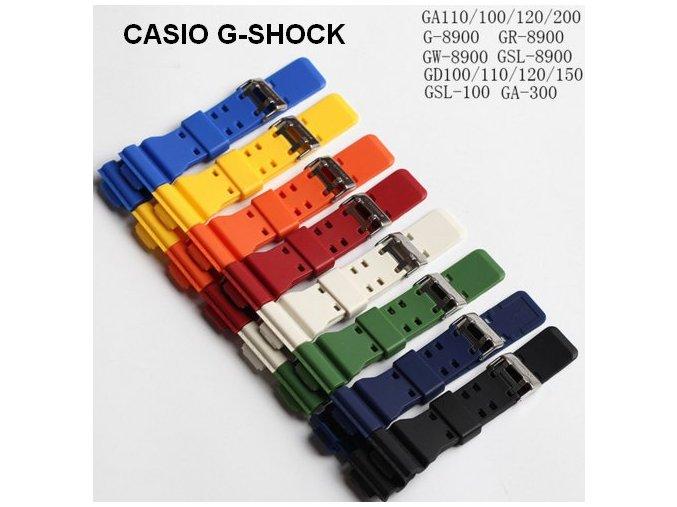 řemínek pro CASIO G-SHOCK GA-100 GA-110 G-8900 GA-120