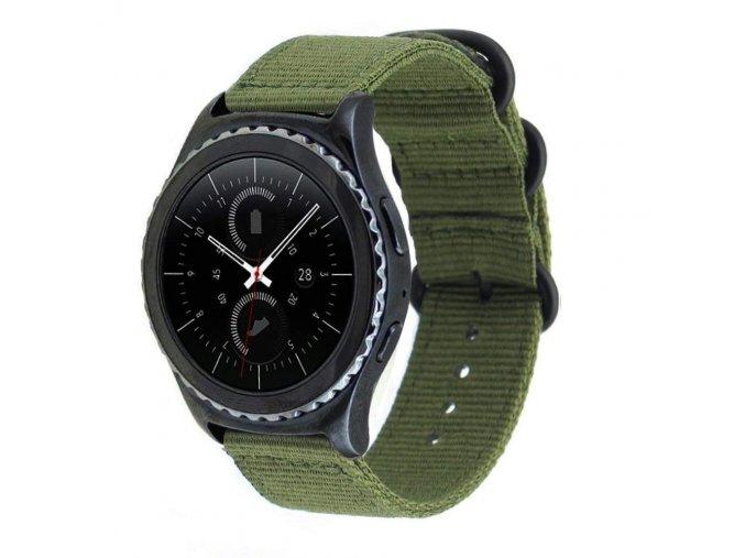 řemínek pro Samsung Gear S3 / GALAXY WATCH 46MM NYLON NATO