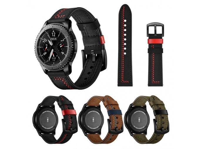 SAMSUNG Gear S3 / GALAXY WATCH 46 mm / GALAXY WATCH 3 řemínek kožený