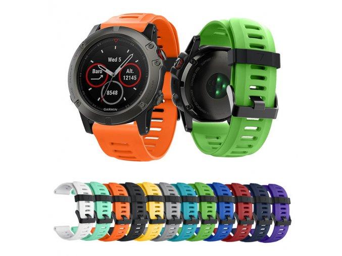 Garmin Fenix 3 HR 5X řemínek mnoho barev