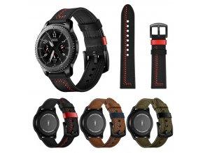 SAMSUNG Gear S3 / GALAXY WATCH 46 mm řemínek kožený