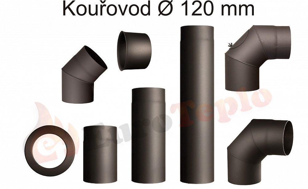 Kouřovody průměr 120 mm Koleno 90°: průměr 120mm