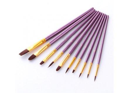 10 štětců fialové