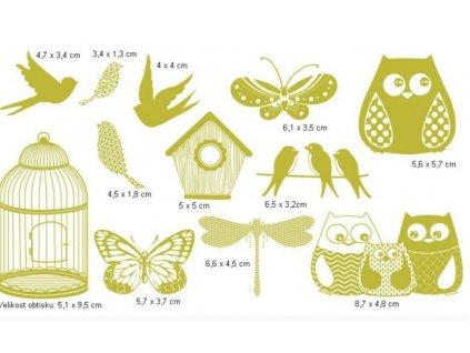 razítka ptáčci a motýli1
