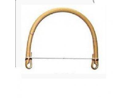 Ratanové ouško ( ucho) jednoduché s kovovými  kroužky