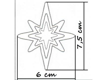 vykr.protáhlé hvězdičky