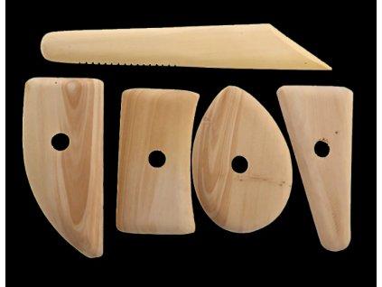 stěrka dřevěná cidlina sada