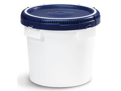 plastový kbelík s modrým víkem