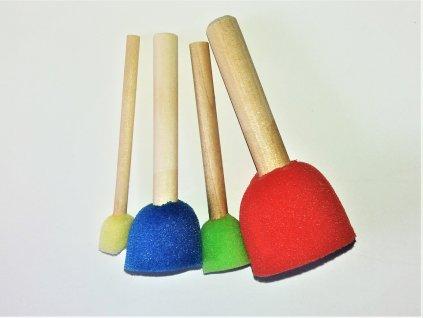 molitanový štětec barevný