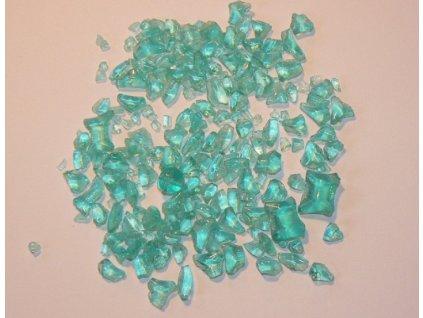 skleněná drť č.30 - světlá zelená lahvová (průhledná)