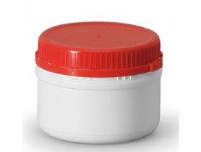 plast.dóza s uzávěrem červený