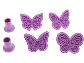 razítka motýli 1 růžová