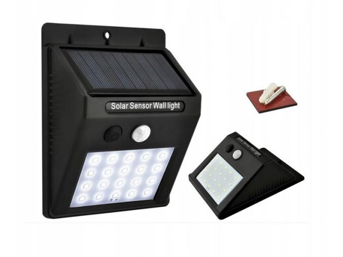 Azari Venkovní solarní LED světlo s detekcí pohybu 20 LED