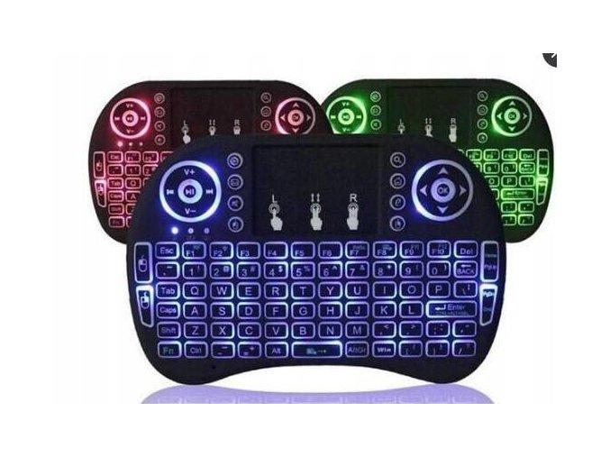 Azari Bezdrátová podsvícená mini klávesnice s touchpadem