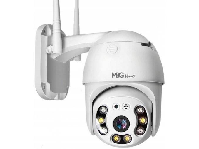 Obrotowa zewnetrzna kamera IP H265 P2P FULL HD LED Typ kamery kolorowa na podczerwien