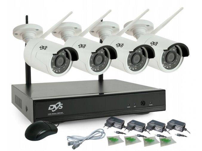 Zestaw monitoringu 4 kamery Full HD WiFi IR 20m