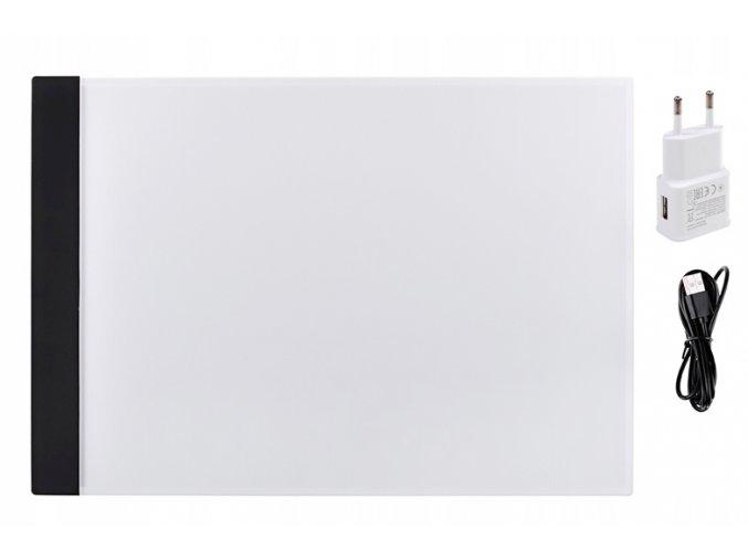 Podswietlana deska kreslarska A4 cienka kalka