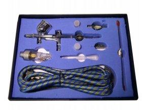 Aerograf TG203K 3 dysze z wezykiem do modelarstwa Waga produktu z opakowaniem jednostkowym 1 kg